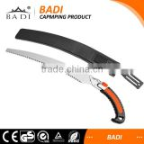 Wooden Handle Garden saw for pruning tree with plastic sheath