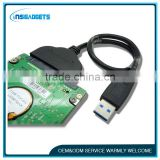 "Super Speed USB 3.0 to SATA 22 Pin 2.5"" Hard disk drive SSD Adapter Cable 13CM"