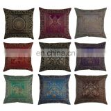 "Wholesale Decorative 16"" Silk Cushion Covers Brocade Banarsi Pillow Cover"
