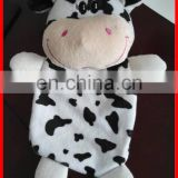 Plush animal hot water bag wholesale plush cow hot water bag cover