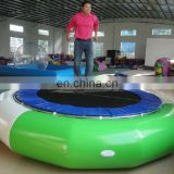hot sale air-tight inflatable water trampoline with metal ring