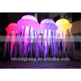 party decorating inflatable jellyfish balloon with led light