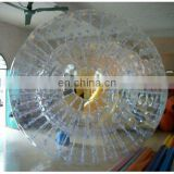 inflatable zorb ball, roller ball, grass ball with white color