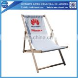Promotional folding wooden fabric beach chair