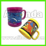 Custom pvc children cartoon animal mugs for promotional gifts