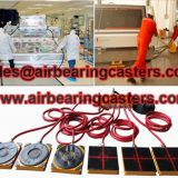 Air bearing caster moving heavy duty equipment easily