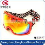 Red foam lined frame uv 400 safety glasses ski sport goggles polarized revo lens paintball skating outdoor sports winter