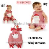no sleeve plain baby rompers Santa Claus Pattern for baby boys and girls MY-IA0023