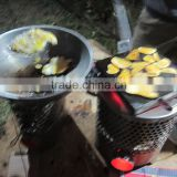 Burning honeycomb briquettes stove generator/Thermoelectric generator for cooking and lighting
