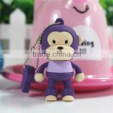 Novelty shape monkey usb flash disk custom 3d usb flash drive 16gb