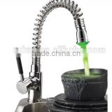 No Battery Spring Pull Down Kitchen Faucet with LED Light Kitchen Sink Faucet, Mixer, Tap