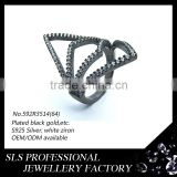 Italian jewellery factory wholesale finger fashion rings new design rings silver jewelry