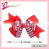 Cute japanese hair accessories ribbon bow metal clip bow tie for ladies