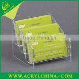 Customized acrylic business card holders /Office stationery acrylic business card box business card seat business card ho