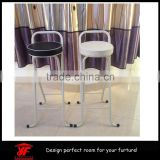 portable round folding high chair metal bar stool bases