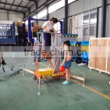 Hontylift Factory Wholesale High quality electric aluminum alloy telescopic man lift platform / aerial working platform lift