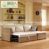 Bamboo Rattan Living Room Storage Box Sofa Bed With Arms                                                                         Quality Choice