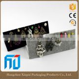 China manufacture velvet jewelry earring display cards