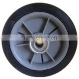 5 inch semi-pneumatic rubber wheels with bearing for shopping cart, baby walker, handcart