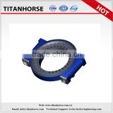 Titanhrose 14 inch double worm gear slewing drive with 2 hydraulic motor for construction machinery