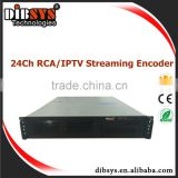 12/18/24 ch SD MPEG4/H.264/MPEG-2 enconder with ultra-low bitrate, excellent video encoder for iptv headend