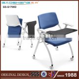 China wholesale metal conference folding chair with writing pad for office-1795D folding chair parts