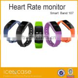 LED Smart Watch Sports pedometer Smartwatch Wrist Band IP67 Waterproof automatic heart rate ID107