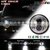 "5.75"" motorcycle front head light high /low beam for Harley led motorcycle headlight 5.75 led headlight"