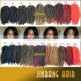 New premium synthetic hair extension ombre color 2x havana mambo twist crochet braid hair