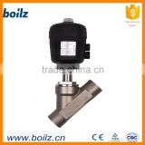 Angel seat valves with pneumatic actuator refrigeration service valve pressure cooker valve