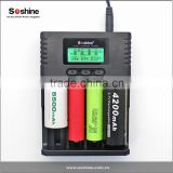 Soshine H4 Dual channel 10440 14500 3.7V Li-ion Battery Charger with EU/AM/AU/UK Plug effeicient charger