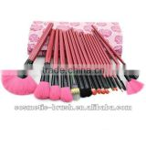 New arrival top quality Professional manufacture purple color 18pcs without logo cosmetic make up brush kit