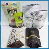 Asuwant custom printed coffee bag /al foil standing zipper bag filling machines with valve and full color printing