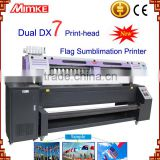 M-197Q flag plotter printer with two DX7 printer head direct printing on polyester banners for advertisement