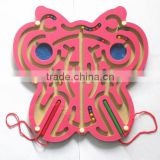Wooden Butterfly AnnularOrbital Maze Game Toy
