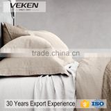 VEKEN products natural linen flax bedding set double duvet cover and pillow cases