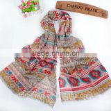 New Fashion Polyester Printed Scarf Shawl Pareo Sarong SS2016