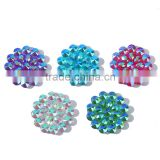 flower flatback resin rhinestone for DIY deco Mix Color Clear Crystal Cabochons Gemstone, Jewelry Accessories