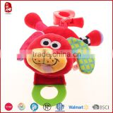 Pull barking plush red dog 2015 China Yangzhou supplier