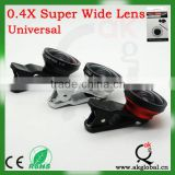Super Wide 0.4X Angle Kit Set mobile phone camera lens for iPhone 4S 5 5S All Brand Smarphone