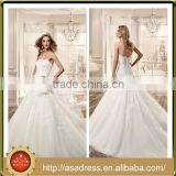 VDN29 Classic Glamorously Beautiful Bridal Gown Floor Length Beaded Appliqued Crepe Princess Wedding Dress for Weddings