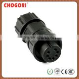 Middle 7 pin waterproof plug, IP67 watertight connector, Chogri high quality electronical connector