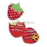 Strawberry shape Nail Manicure Personal Beauty Set for female