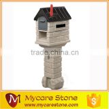 Garden sculpture crafts stone lovely post box on sale