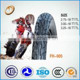 Good quality but competitive price for size 2.75-18 motorcycle tubeless tyre motocross tire