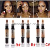 kiss beauty cosmetic double-end highlight, brighten,concealer and contour fundation makeup contour stick