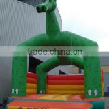 Cartoon style horse inflatable bouncer, commercial bounce house for sale