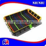 Large Indoor Outdoor Bungee Gymnastic Trampoline With Pyramid