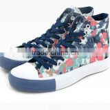 multicolor print upper vulcanized trainer high top sneakers cheap casual canvas shoes women footwear shoes 2016
