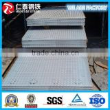Carbon Steel Q235 Checkered Steel Plates/ Hot Rolled Diamond Steel Plate Checkered Plate